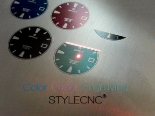 Color Laser Marking/Engraving on metal by MOPA fiber laser marking machine