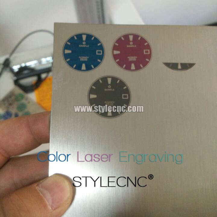 Color laser engraving on stainless steel