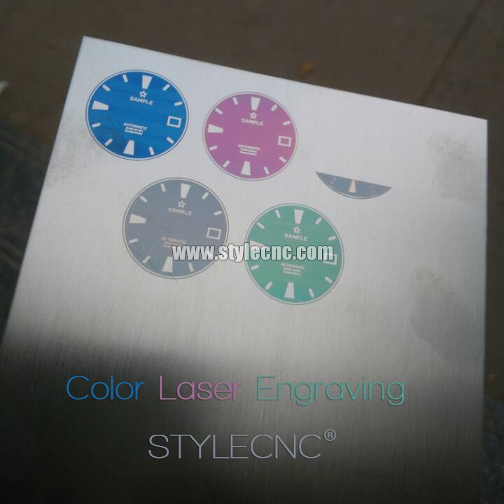 Color laser engraving on metal