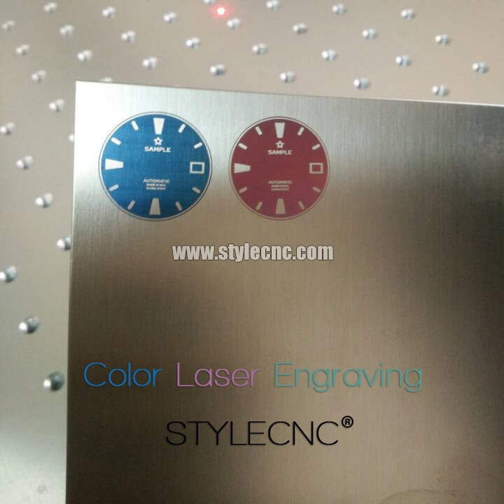 Color laser marking on stainless steel