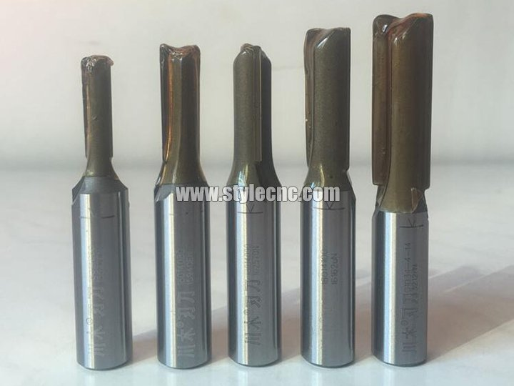 The First Picture of TCT Straight Flute CNC Bits for MDF and Wood Cutting