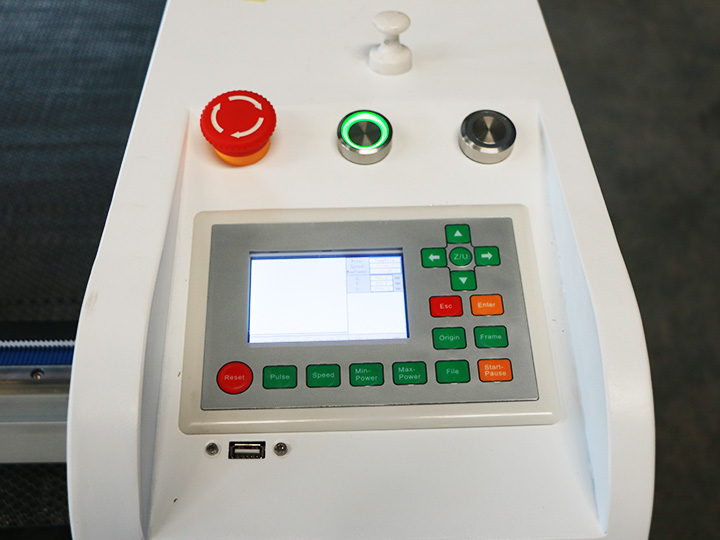 Laser wood engraving machine control panel