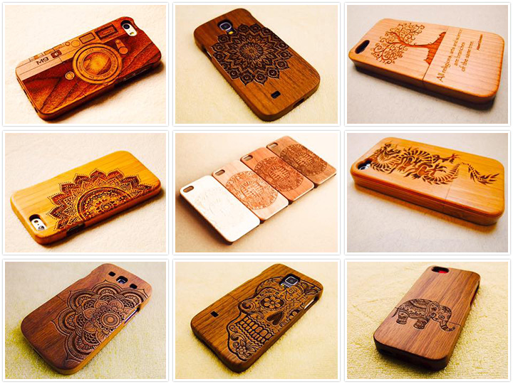 Laser engraving machine for wood mobile case projects