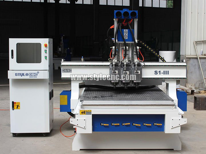 3 Axis CNC Router with Three Spindles