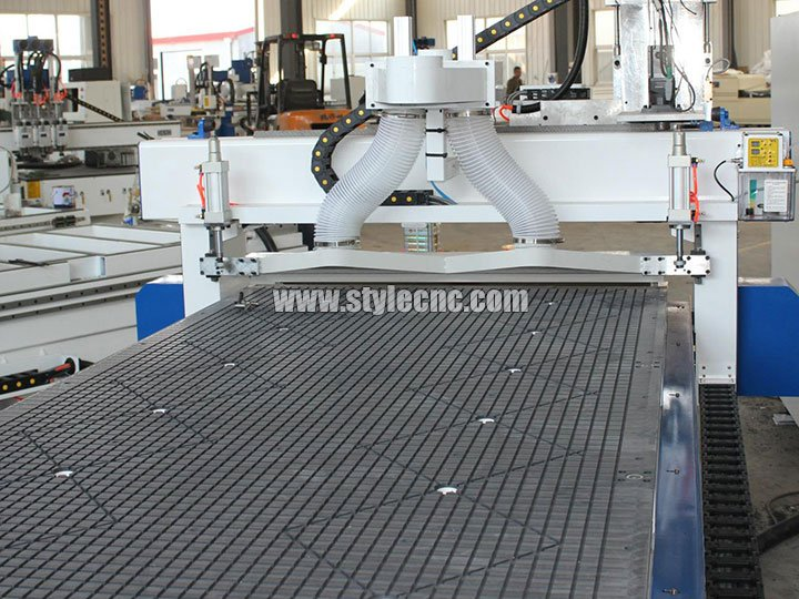 vacuum table of 3 Axis CNC Router with Three Spindles