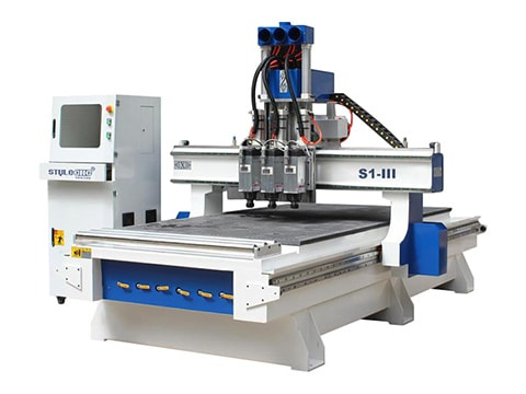 3 Axis CNC Router with three spindles for sale