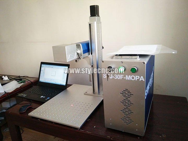 30W MOPA Laser Marking Machine with Auto Focus