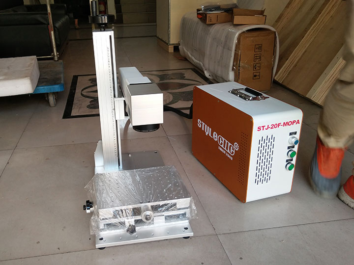 20W MOPA Fiber Laser Marker Deliveryed to The USA