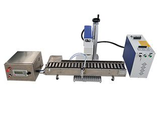 Pen laser engraving/marking machine with conveyor belt