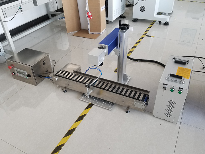The Second Picture of Pen Laser Engraving/Marking Machine with Conveyor Belt