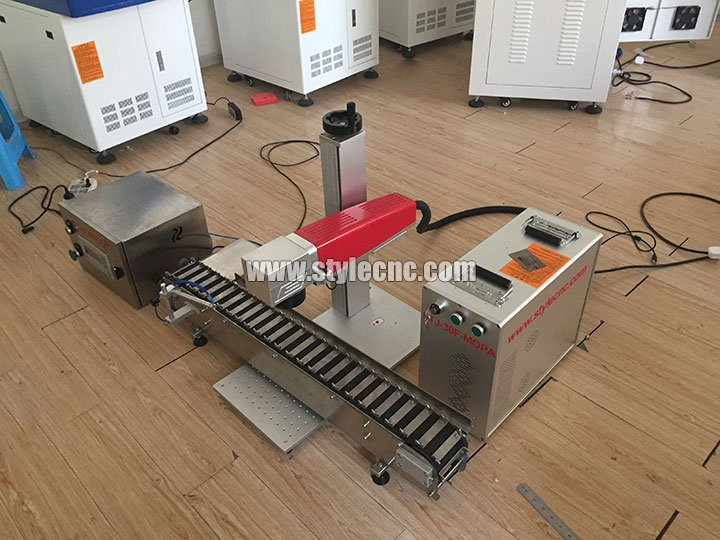MOPA Laser Marker with Conveyor Belt for Marking Pen
