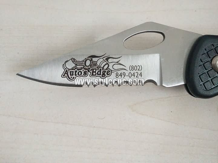 knife laser marking project
