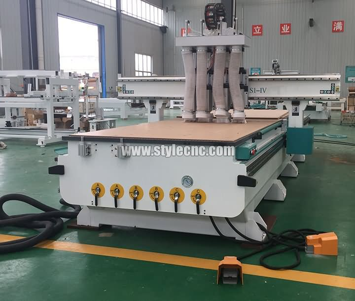 Furniture CNC Router With 4 Spindles Is Ready For Delivery