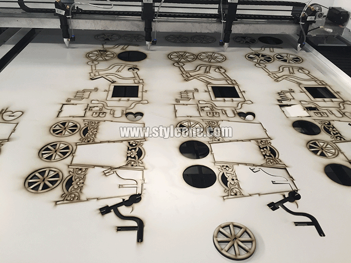 5mm MDF laser cutting sample