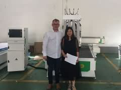 Romania customer visit STYLE CNC router factory