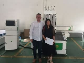 Romania customer visited STYLECNC CNC router factory