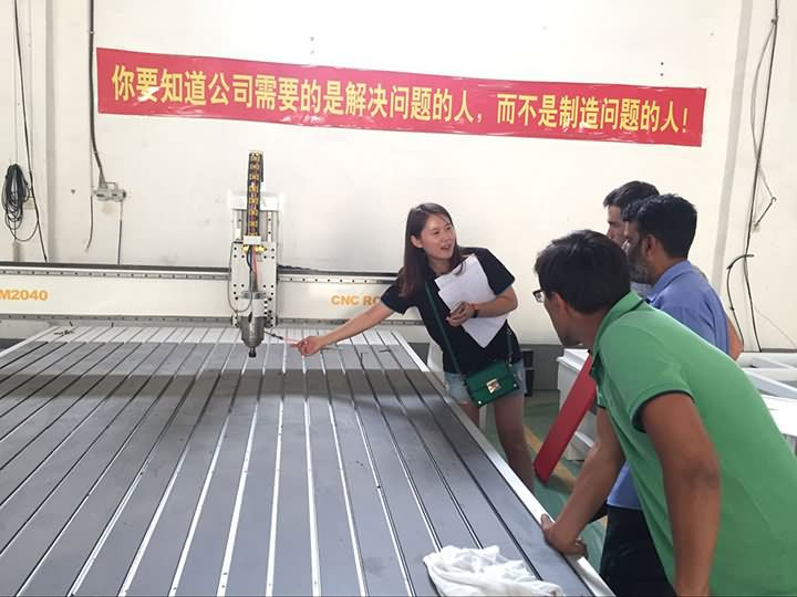 Turkmenistan Customers Inspection for 2040 ATC CNC Router