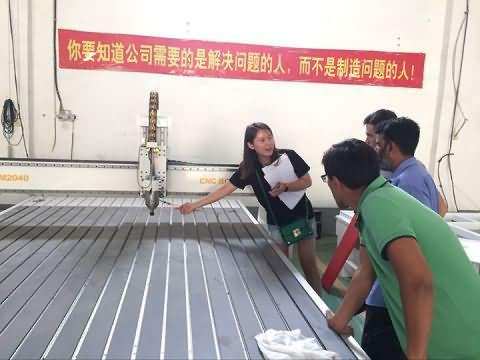 Turkmenistan customers visit factory for 2040 ATC cnc router