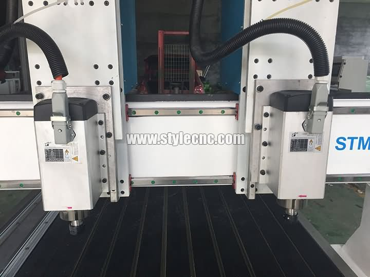 wood cnc router with two spindles