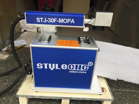 MOPA laser marking machine 30W is ready for delivery to Columbia