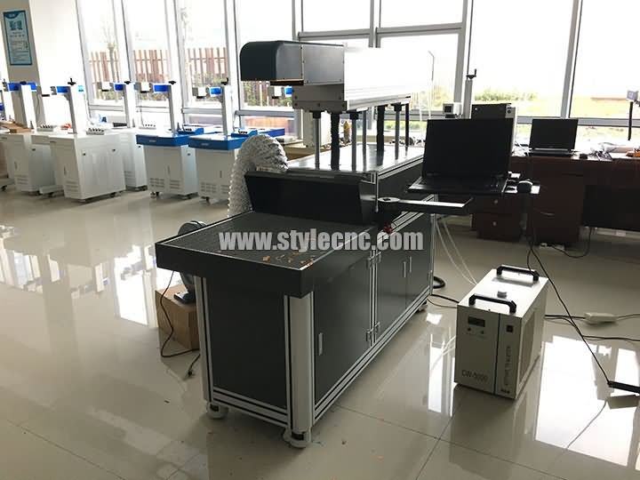 3D co2 laser marking machine for paper