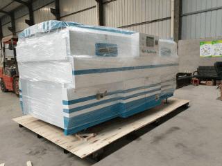 PVC vaccum membrane press machine delivery to Ethiopia