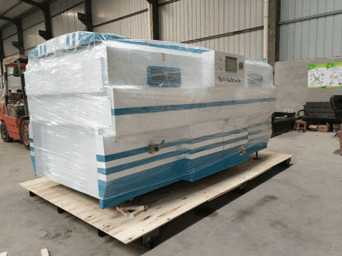 PVC vaccum membrane press machine is ready for delivery to Ethiopia