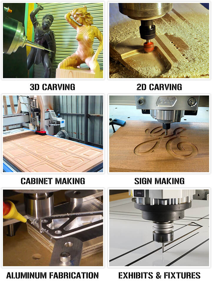 What is a CNC router applied in?
