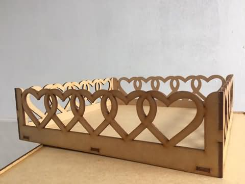 MDF baby bed laser cutting projects