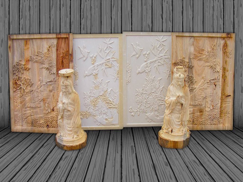 3D CNC router for wood relief carving projects