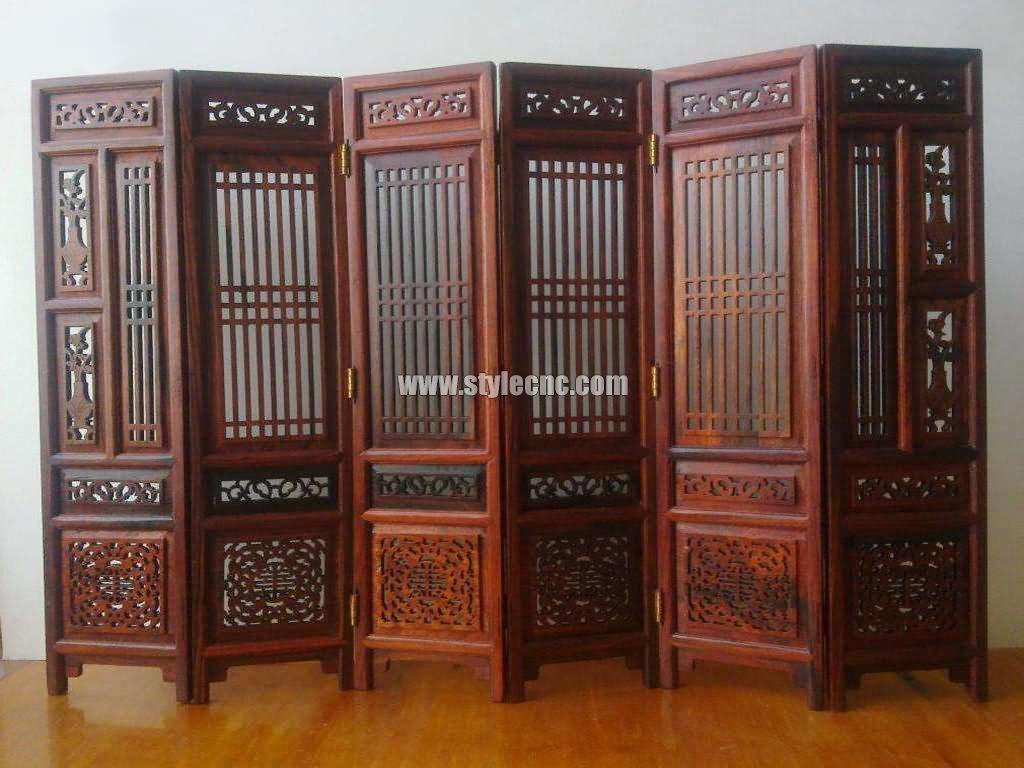 Wooden screen hollow carving CNC router projects