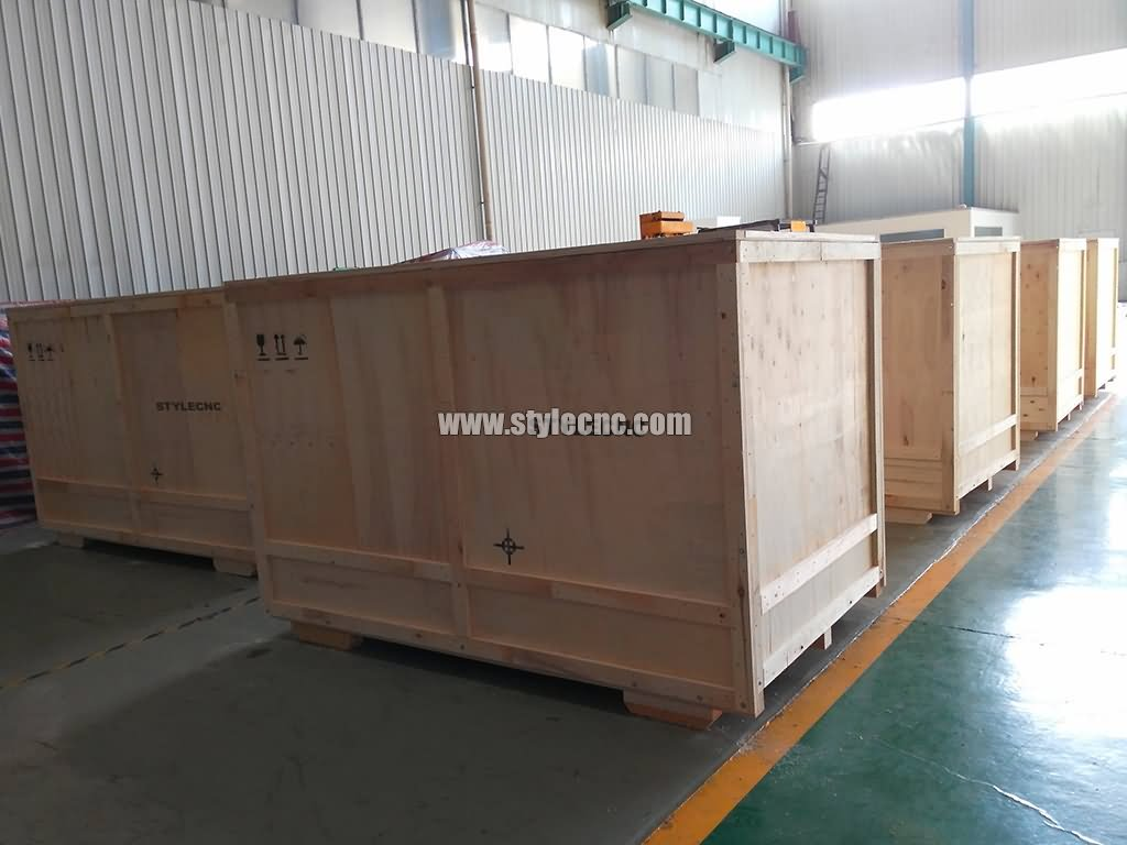 Laser textile cutting machine package