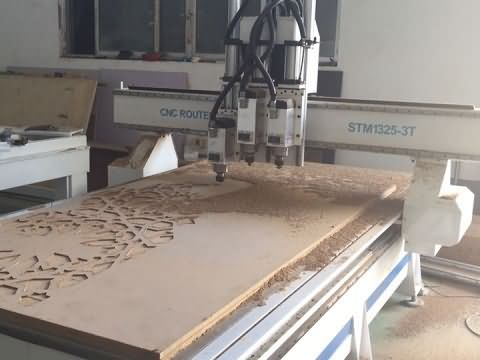 3 spindles CNC router machine for wood carving and cutting