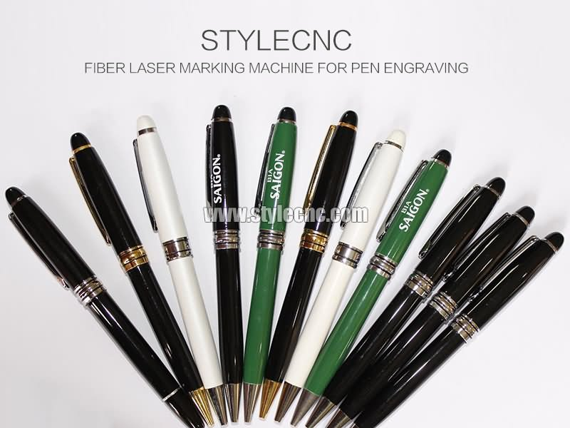 Fiber laser engraving machine for pens