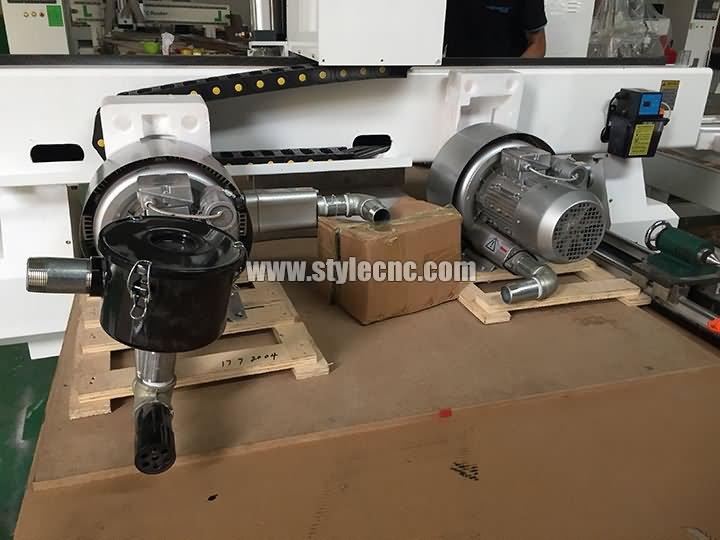 air pump of 3 heads CNC router machine