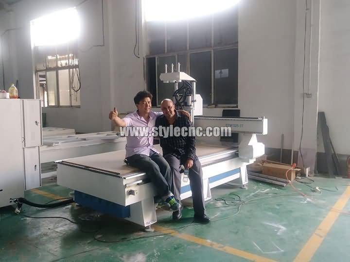 Merocco customer of 3 heads CNC router machine