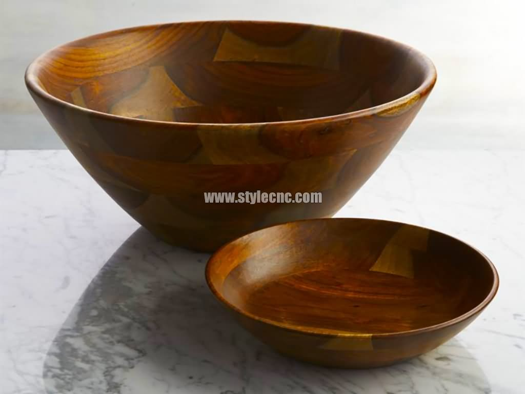 CNC wood bowl turning