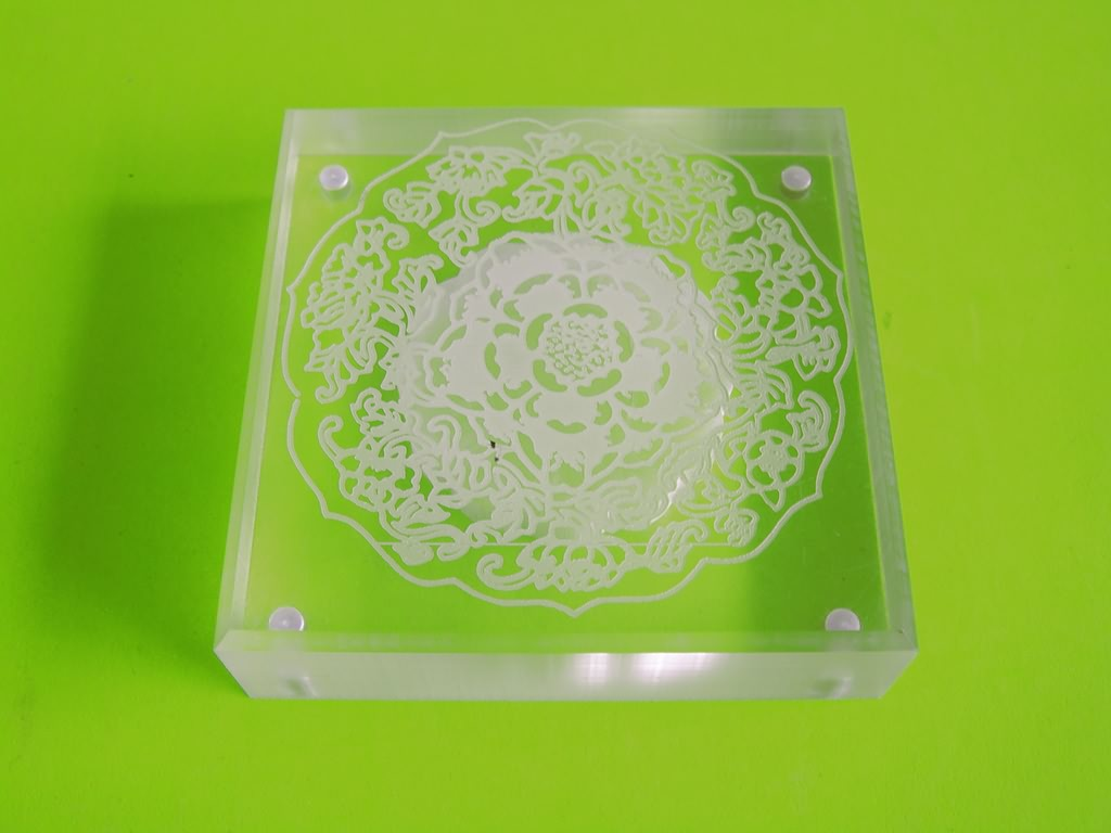 Acrylic laser engraving projects by CO2 laser engraving machine