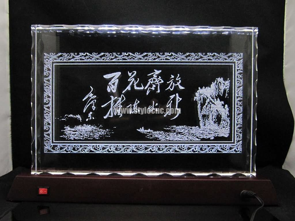 Acrylic laser engraving machine project