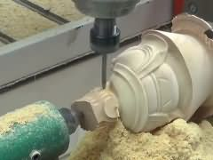 Rotary axis 3D CNC Router machine for woodworking