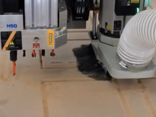 ATC CNC router with automatic tool changer, drill bank and rotary axis for woodworking