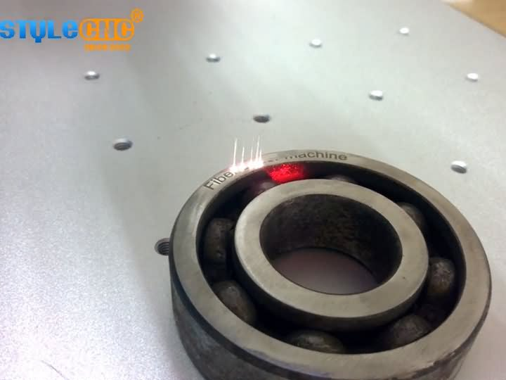 Fiber laser marking machine for ball bearing