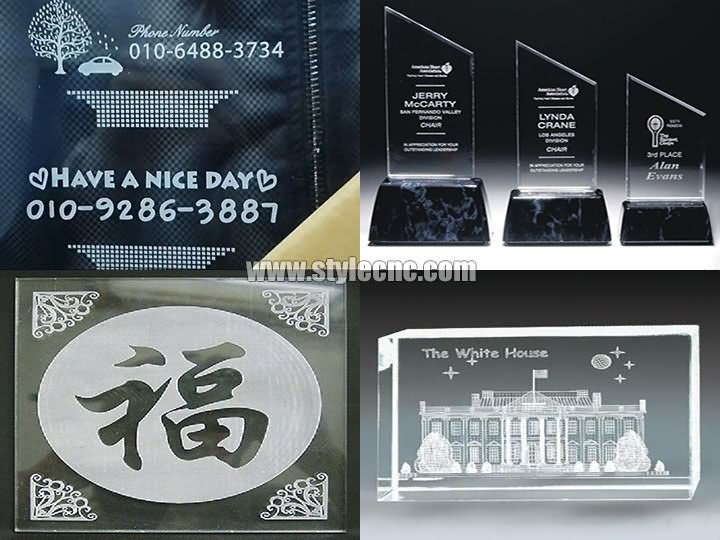 Acrylic CO2 laser marking/engraving machine projects
