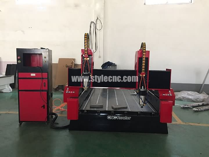 dual heads stone CNC router machine