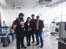 Saudi Arabia customer visited factory for Jewelry laser <i><i>marking</i></i> machine