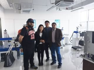 Saudi Arabia customer visited factory for Jewelry laser marking machine