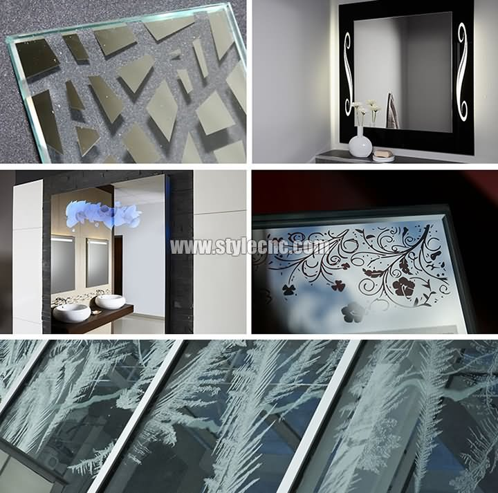 Bathroom mirror laser etching machine