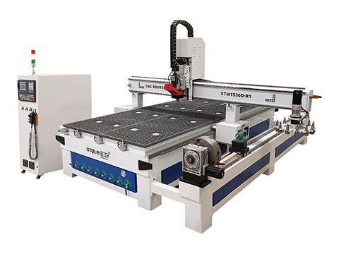 STYLECNC® woodworking CNC machinery center with 4 axis rotary