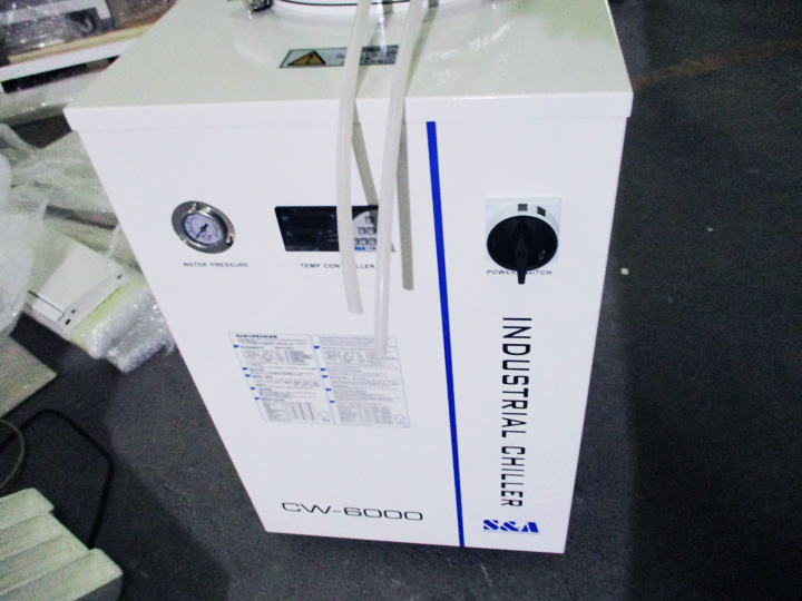 CW6000 water chiller of laser cutter 280w