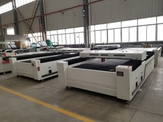 New deisgn metal and nonmetal laser cutting machine for Bolivia market